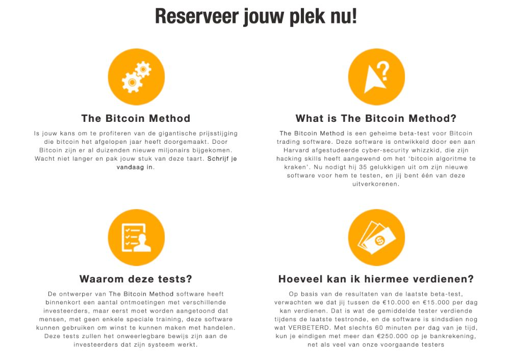 Bitcoin Method Voordelen